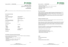 Dane środka technicznego Opis działania, przeznaczenie środka