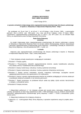 Uchwała Nr IV/24/2015 Rady Gminy Bojszowy z dnia 09 lutego