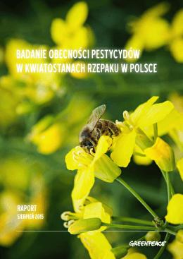 badanie obecności pestycydów w kwiatostanach