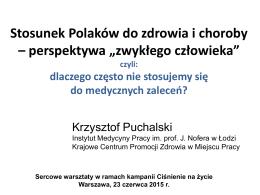 Prezentacja dr K. Puchalski