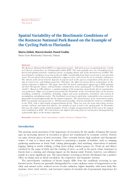 Spatial Variability of the Bioclimatic Conditions of the Roztocze