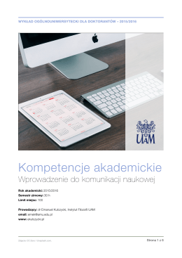 Wykład - Warsztat badacza – Emanuel Kulczycki