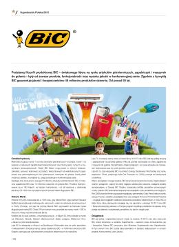 Podstawą filozofii produktowej BIC – światowego