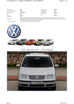 VW SHARAN 1.8TURBO