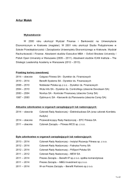 Artur Małek - Medicalgorithmics SA
