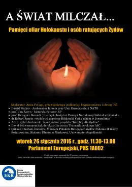 Pamięci ofiar Holokaustu i osób ratujących Żydów wtorek 26