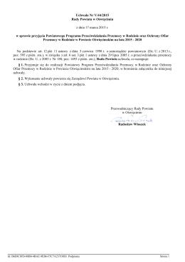 Uchwała Nr V/44/2015