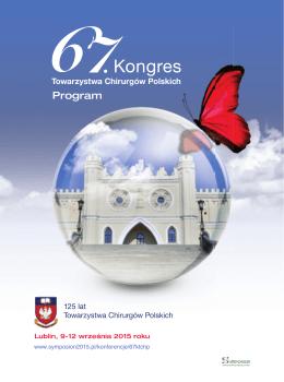 Program naukowy - Towarzystwo Chirurgów Polskich