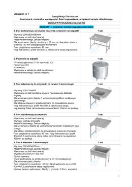1. Specyfikacja Techniczna