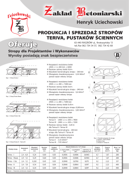 Stropy dla Projektantów i Wykonawców