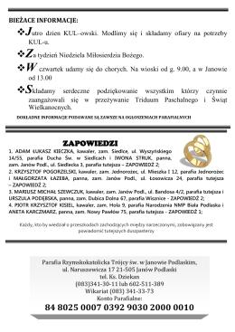 Pobierz 14 Nr Gazetki z 05.04.2015 r.