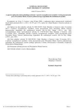 (tekst jednolity) - REGULAMIN - II-LO.tarnow.pl