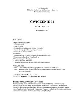 Elektroliza - Uniwersytet Rolniczy w Krakowie