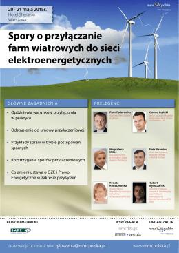 Spory o przyłączanie farm wiatrowych do sieci elektroenergetycznych