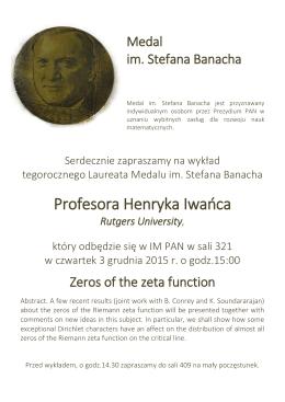 Profesora Henryka Iwańca