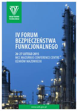 IV forum bezpIeczeństwa funkcjonalnego