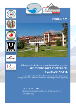 program - Slovenská komora medicínsko