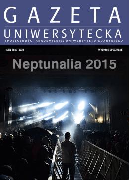 Neptunalia 2015 - Gazeta Uniwersytetu Gdańskiego