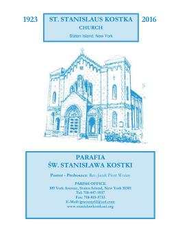 10 Stycznia 2016 - St. Stanislaus Kostka Parish