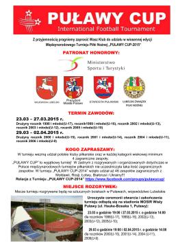 puławy cup 2015 - Akademia Sandecja