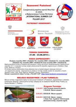 Zaproszenie SUMMER PULAWY CYP