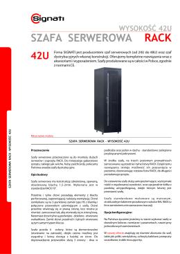 wysokość 42u szafa serwerowa rack