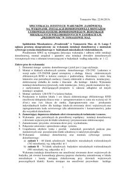 Specyfikacja istotnych warunków zamówienia - pdf