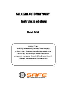 SZLABAN AUTOMATYCZNY Instrukcja obsługi