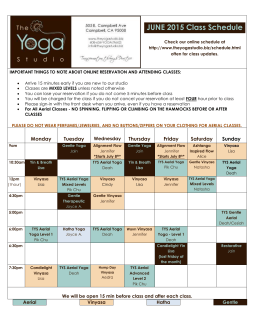 JUNE 2015 Class Schedule