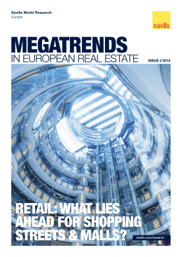 retail: what lies ahead for shopping streets & malls?