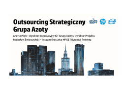 Outsourcing Strategiczny Grupa Azoty