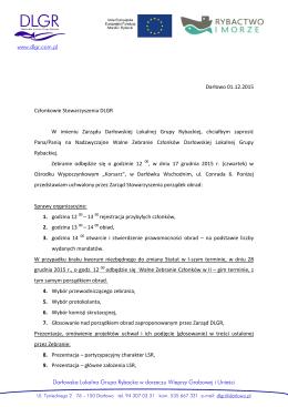 www.dlgr.com.pl Darłowska Lokalna Grupa Rybacka w dorzeczu