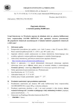 Zapytanie ofertowe - Urząd Statystyczny we Wrocławiu