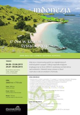 """Oferta wyprawy """"Indonezja - w krainie tysiąca wysp"""""""