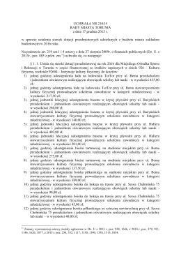 UCHWAŁA NR 210/15 RADY MIASTA TORUNIA z dnia 17 grudnia