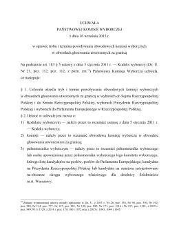 Zagranica - powolywanie komisji obwodowych