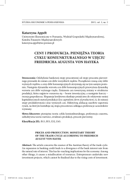 Katarzyna Appelt - studia oeconomica posnaniensia