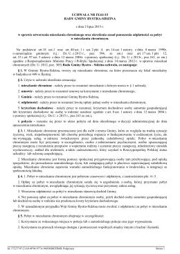 Uchwala Nr IX/61/15 z dnia 2 lipca 2015 r. - Gmina Bystra