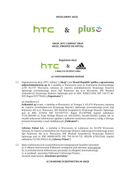 "Regulamin akcji ""HTC I ADIDAS"""