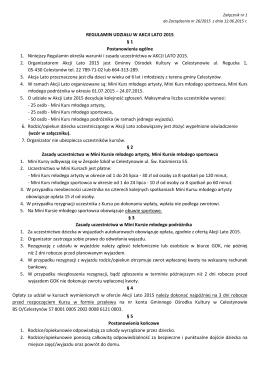 Regulamin udziału w Akcji Lato 2015