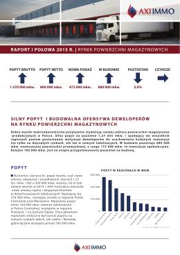 Rynek magazynowy w I połowie 2015 r.