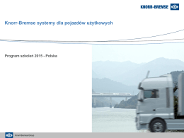 Knorr-Bremse systemy dla pojazdów użytkowych - Knorr