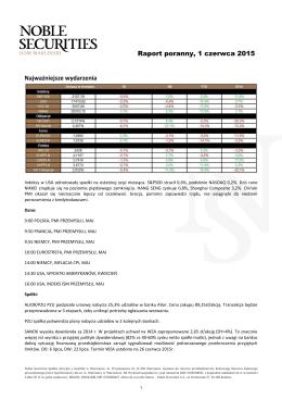 Pobierz pełny Przegląd Rynków Noble Securities (pdf z wykresami)