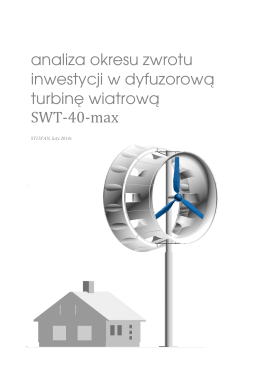 analiza okresu zwrotu inwestycji w dyfuzorową turbinę wiatrową