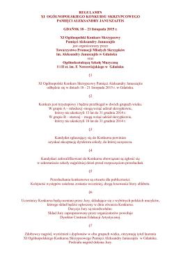 Regulamin XI Konkursu Januszajtis 2015