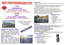 oboz-letni-2015 - Sosnowiecki Klub Karate