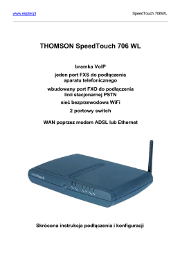 THOMSON SpeedTouch 706 WL