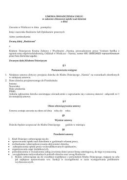 Umowa klub malucha (format pdf)