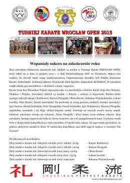 Turniej Karate Wrocław Open - klub karate goju ryu shuseikan poland