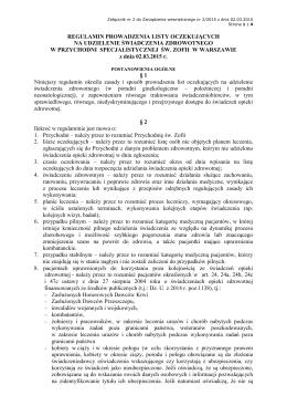Regulamin PPS 02.03.2015 - Witamy na stronie Przychodni